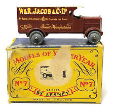 Lesney Models Of Yesteryear 4 Ton Leyland W&R Jacob & Co LTD # 7 Vintage Diecast