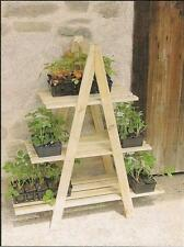 WOODEN PLANT STAND (3 SHELVES)