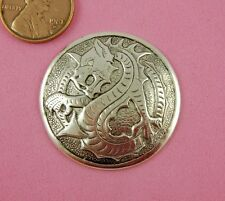 VINT DESIGN ANT SILVER DAPT DRAGON MEDALLION - 1 PC(s)