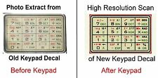 Accessory for: Casio CFX-40 & CFX-400 Self-Adhesive Vinyl Keypad Image Decal