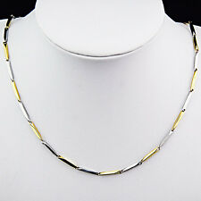 316L Stainless Steel Women Mens Costume Silver Gold Mirror Plain Necklace Chain