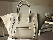 $3100 CELINE MEDIUM LUGGAGE PHANTOM TOTE SUPPLE BEIGE CALFSKIN *100% AUTHENTIC*