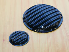 Black Finned Derby Timing Timer Cover For Harley Sportster Iron XL883 1200 48 72