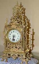 BEUAUTIFUL FRENCH BRONZE MANTEL CLOCK  1890