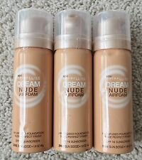 Lot of 3: NEW Maybelline Dream Airfoam Air-Infused Foundation Sun Beige (2014)