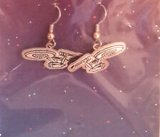 Vintage Star Trek Classic Enterprise Hologram Earrings- Die Cut (STJW-AH-02)