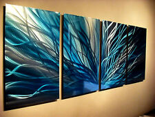 Abstract Metal Wall Art- Contemporary Modern Decor Original Radiance Blue