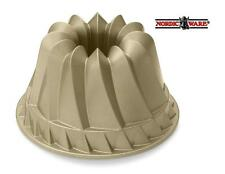 NORDICWARE 5 x 9 European German GOLD KUGELHOPF Kugelhof BUNDT CAKE PAN PLEATS