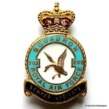 1950s RAF 202 Squadron MILLER Brooch Badge - Royal Air Force Search and Rescue