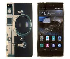Case f Huawei P8 Schutzhülle Tasche Cover Etui Kamera Fotoapparat retro