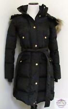 $298 JCrew Wintress Puffer Faux Fur Hood Coat XXS black goosedown e3889 NEW