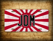 JAPANESE LICENSE PLATE Rising Sun WW II 2 Tag Japan JDM Motors vintage red flag