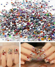 2000pcs Nail Art Mixed Shape Rhinestones Acrylic Decoration Flat back Gems HS0
