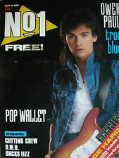 NO 1 (NUMBER ONE) MAGAZINE 13/9/86 - OWEN PAUL - OMD - BUCKS FIZZ - A-HA