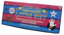 DELUXE COMBO LOOM KIT WITH 50 S CLIPS & 1200 COLORED BANDS Rainbow Tie Dye Charm