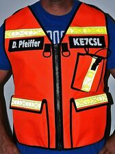 Radio Communications , Safety, Reflective, Vest, Custom call sign and colors