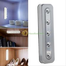 5 LED Touch Night Light Home Room Under Cabinet Closet Push Tap Stick On Lamp Ne