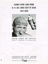 PUBLICITE ADVERTISING 094  1989  LABORATOIRES URGO    coup de soleil