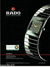 PUBLICITE ADVERTISING 096  2002  montre Rado ceramica  Roland Garros