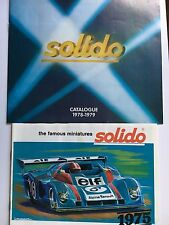 Lot of 2 Solido Toy Car Catalogs 1975 and 1978/79 in VGC