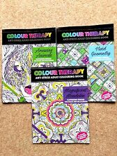 3 Adult Colouring Books (Mandalas, Animals & Patterns) (Excellent Cond P/B Set)