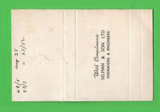 Old EMPTY cigarette packet Printer's proof #448