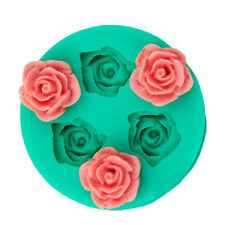 MJ121 Three Rose Flowers 1 pc Cake Mold Silicone 3D Rose Flower Candy Jelly Deco