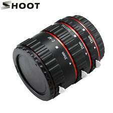 SHOOT Auto Focus Macro Extension Tube Adapter Ring Set f Canon DSLR EF EOS EF-S