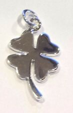 New 925 sterling silver pendant four leaf clover good luck charm