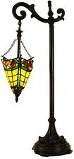 Floor Lamps For Reading Bronze Finish Rustic Hand Crafted Shade Glass Tall