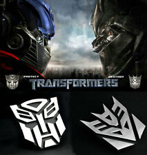 Alloy Transformers Autobot 3D Logo Emblem Badge Graphics Decal Car Sticker Decal