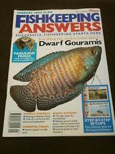 FISHKEEPING ANSWERS - DWARF GOURAMIS - JAN 1995