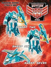 Transformers Botcon 2009 Exclusive Sweeps 3 Pack MISP 2, 6, 7