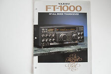 YAESU FT-1000 (GENUINE BROCHURE ONLY)............RADIO_TRADER_IRELAND.