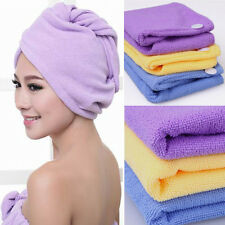 2 PCS Blue Magic Fast Drying Microfiber Bath Shower Hair Wrap Towel Turban Twist
