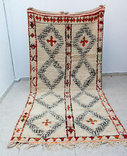 Stunning 100% Authentic Colorful Beni Ourain Moroccan Wool Rug 12'6 x 6'
