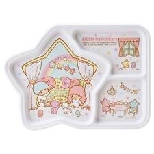 LOVELY LITTLE TWIN STARS melamina 3 pezzi divisi PLATE FOR KIDS