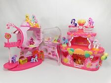 Lot of My Little Pony PONYVILLE Gumball & Roller Skate Party Cake House & Ponies