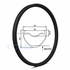 29.5er 40mm width mtb carbon rims 29inch mountain bicycle rim tubeless 32H 1pc