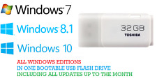 Windows 7/8.1/10 All in One 32&64bit | Bootable USB  | With latest updates