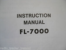 YAESU FL-7000 (GENUINE INSTRUCTION MANUAL ONLY)...........RADIO_TRADER_IRELAND.