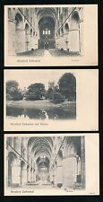 Herefordshire HEREFORD Cathedral x3 c1902 u/b PPCs