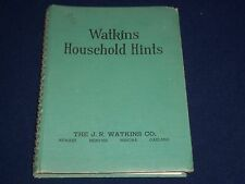 1941 WATKINS HOUSEHOLD HINTS BOOK BY ELAINE ALLEN - PRODUCT REVIEWS - KD 2370
