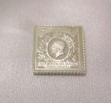 SOLID SILVER STAMP EAST AFRICA AND UGANDA PROTECTORATES 1912 1918 500 RUPEES