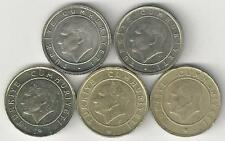 5 DIFFERENT 5 KURUS COINS from TURKEY (2007, 2008, 2009, 2010 & 2011)