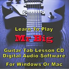 MR. BIG Guitar Tab Lesson CD Software - 50 Songs