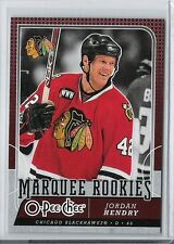 08-09 2008-09 O-PEE-CHEE JORDAN HENDRY ROOKIE RC OPC 548 CHICAGO BLACKHAWKS