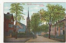 New Walk, St. Stephens Church Leicester Postcard, A853