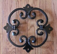 Wood Gate Window, Wrought Iron Rosette for Door, Speak Easy grille, doorway,