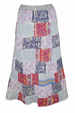 Boho Gypsy Hippy Festive Skirt Womens Colorful Indian Patchwork Long Maxi Skirts